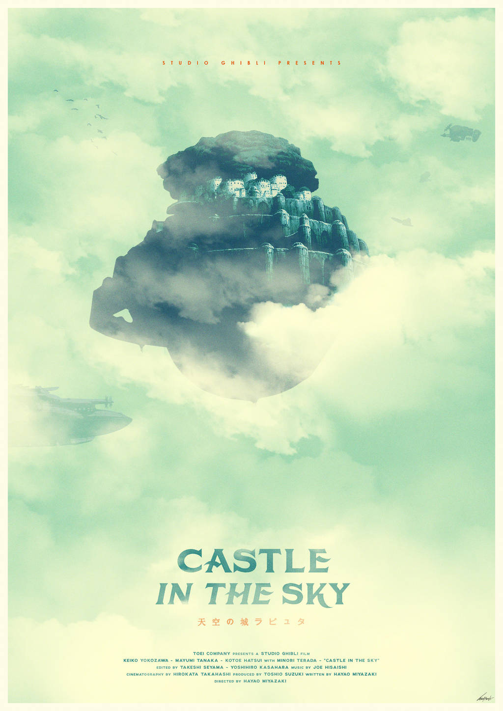 Spirit of Strength - Castle in the Sky Poster by edwardjmoran