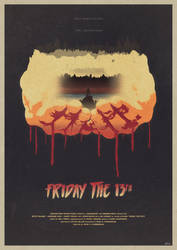He's Coming - Friday the 13th Poster by edwardjmoran