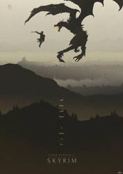 Dawning Fire (Revival) - Skyrim Poster by edwardjmoran