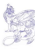 Leu sketch by Leundra