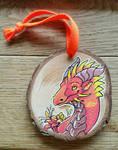 Dragon on wood by Leundra
