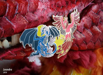 Enamel Pin: Leundra and Phoenix by Leundra