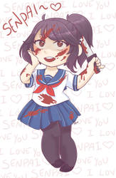Yandere-Chan - Blood by indidere