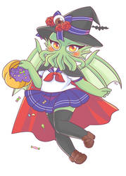 Halloween Cthulhu-Chan by indidere