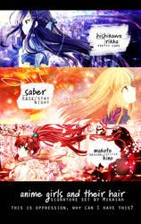 Anime Girls + Hair | signature set by limarida