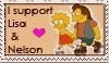Nelson and Lisa stamp by balba-bunny