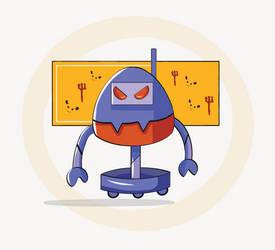 Angry robot by nasrinkhodatars