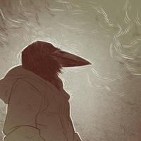 More bird guy sketch (Defans Amis) by cowboypunk