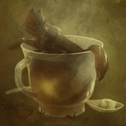 Tea Wolf by cowboypunk