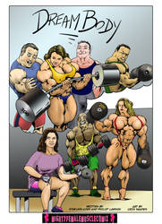 DREAM BODY Sample 1 From MightyFemaleMuscleComix by zenx007