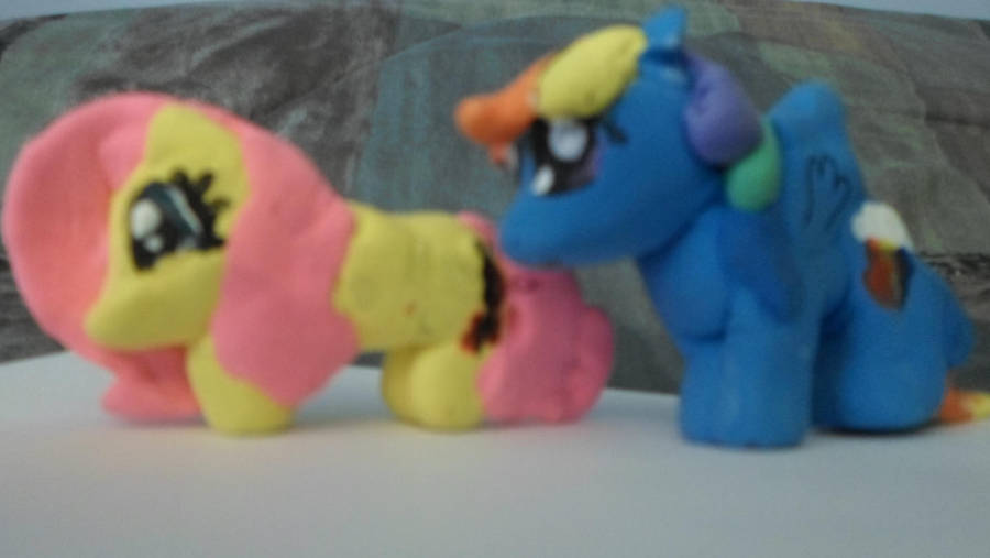 Fluttershy and Rainbow Dash Model Magic by MidnightRarity
