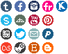 Social Network buttons round by Sukiie