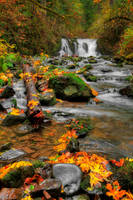 Crystal Falls-Autumn by 11thDimensionPhoto