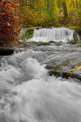 McDowell Falls-autumn by 11thDimensionPhoto