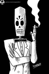 Grim Fandango - Manny Calavera by Psykhophear