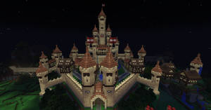 Minecraft Sandstone Castle by UNDEADWARRIOR7411
