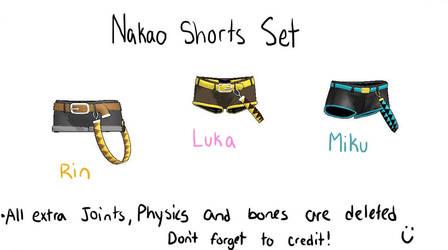 MMD nakao shorts set by Vocaloid98