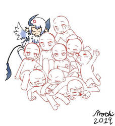 TF2 Draw the OC Squad with Demon Absol Medic by BlazetheAngelQueen