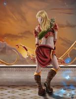 Elven Warrior by cagdasdemiralp