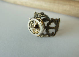Adjustable Steampunk Ring by FantasyDesigns1