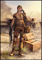 Soldier Girl - End of The War by idonk