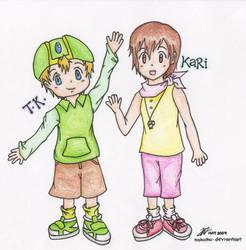 TK and Kari by nakichu
