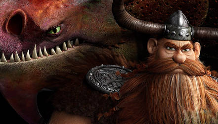 Stoick and Skull Crusher Wallpaper by Cynderthedragon5768