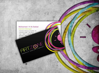 ARTZONE Business card by fox3mr