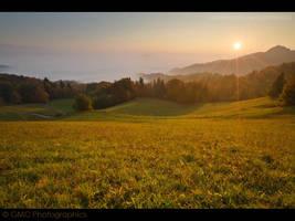 Sunrise over Ljubljana BasinII by GMCPhotographics