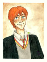 Ron Weasley by kiwikewte