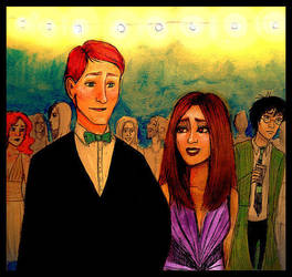 Ron Hermione at the Wedding by kiwikewte