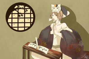 Natsume and Nyanko-sensei by Ururukia