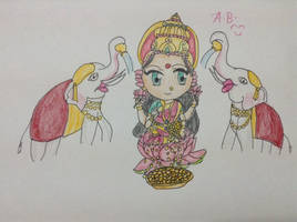 Day 6: Sri Mahalakshmi by animefanBhargav