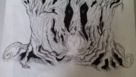 Into the wood(inked) by Nasca99