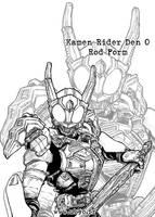 Kamen Rider Den O Rod Form by Uky0