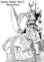 Kamen Rider Den O Wing Form by Uky0