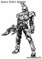 Kamen Rider Kabuto rider form by Uky0
