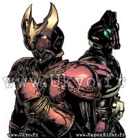 Kamen Rider Kuuga and Decade by Uky0