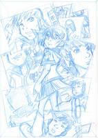 Sketch Sentai School Tribute by Uky0