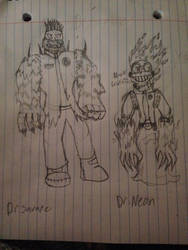 {PvZ} Dr.Savage and Dr.Neon by StantheSpider
