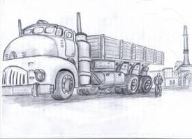 Dieselpunk monster by Ulyanovetz