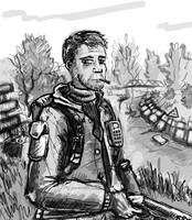 yet another stalker sketch by Ulyanovetz