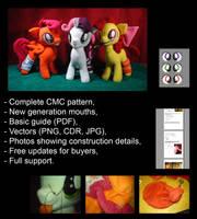 My Little Pony plushie pattern - CMC - tutorial by Oblitor