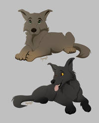 Puppies by Tayarinne