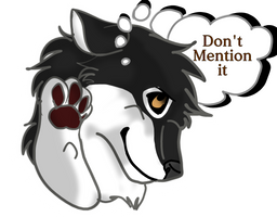 Don't Mention it Sticker by Gerundive