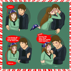 Candy Cane Kiss. by Gerundive
