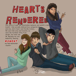 Hearts Rendered Poster 2019 by Gerundive