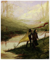 Robert and Eddard by Enife