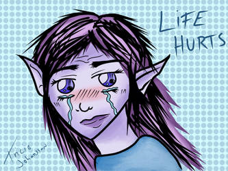 Sad elf by avoranic
