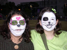 Day Of The Dead Faces By Mwolfl On Deviantart